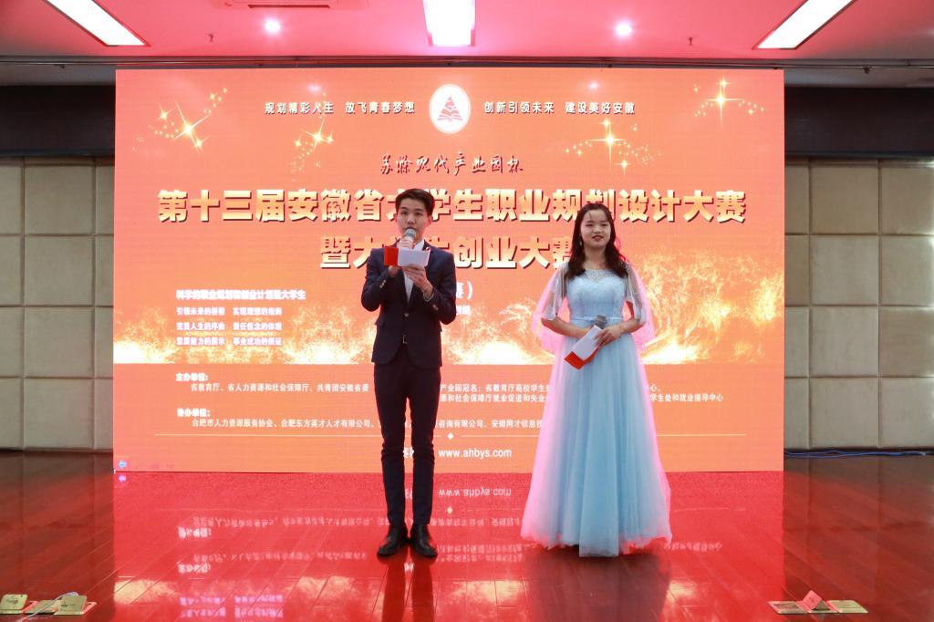 第十三届安徽省大学生职业规划设计大赛暨大学生创业大赛